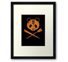 Panda Skull- SF Giants Framed Print