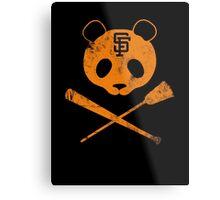 Panda Skull- SF Giants Metal Print