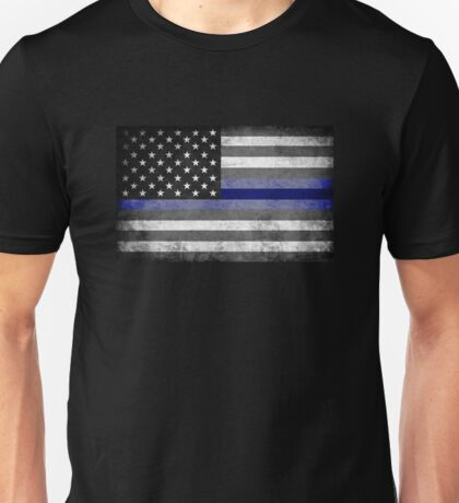 The Thin Blue Line - American Police Officer Unisex T-Shirt