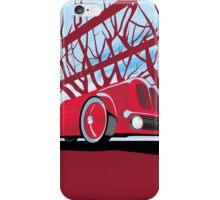 Ford Edsel vintage racer illustration iPhone Case/Skin