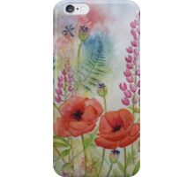 Oriental Poppies in the Meadow iPhone Case/Skin