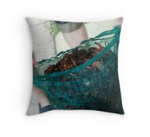 live crawfish Throw Pillow