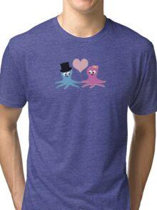 Cute Octopus Couple Tri-blend T-Shirt