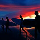 Surfers @ Sunset by Ray Smith