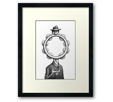 Musical Anatomy: Mr. Tambourine Man Framed Print