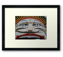 his face Framed Print