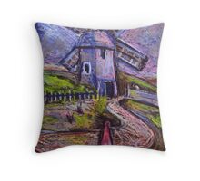 The old windmill Throw Pillow