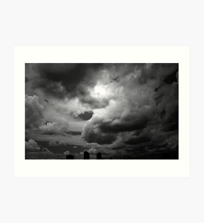 Storm Clouds in Black and White Art Print