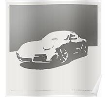 Porsche Cayman S - Gray on White Poster