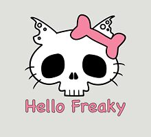 Hello Freaky Pink Womens Fitted T-Shirt