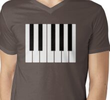 PIANO Mens V-Neck T-Shirt