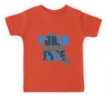 Poker Face Silhouette Kids Tee