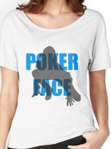 Poker Face Silhouette Women's Relaxed Fit T-Shirt