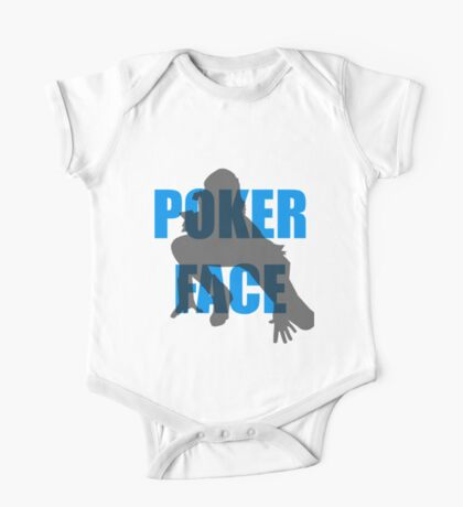 Poker Face Silhouette One Piece - Short Sleeve