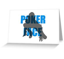 Poker Face Silhouette Greeting Card