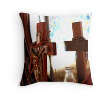 Pray for us sinners Throw Pillow