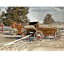 Winter Wagon Photographic Print