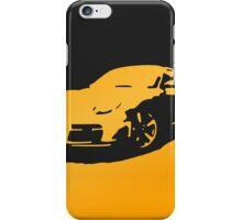 Porsche Cayman S - Yellow on Black iPhone Case/Skin