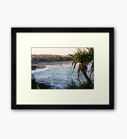 Dusk at Coolum Framed Print