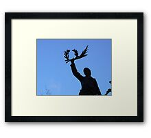 to thoses who fall Framed Print