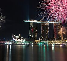 Fireworks at Marina Bay Singapore by tpixx