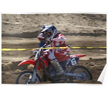 Honda Red Rider Putting on the Heat! So. Calif., U.S.A. Poster