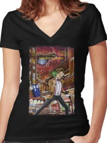 Somewhere in Time and Space Women's Fitted V-Neck T-Shirt