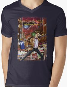 Somewhere in Time and Space Mens V-Neck T-Shirt