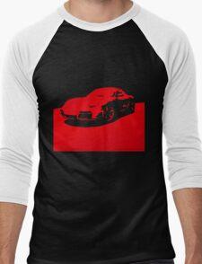 Porsche Cayman S - Guards Red on Black Men's Baseball ¾ T-Shirt
