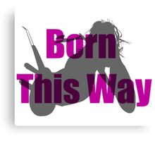 Born This Way Silhouette Canvas Print