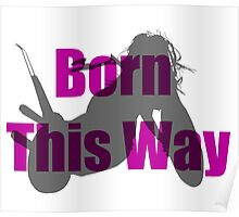 Born This Way Silhouette Poster