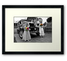 Flowergirls Framed Print