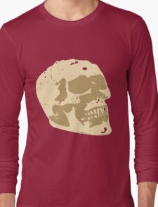 Skull Art Vector Long Sleeve T-Shirt