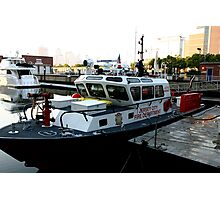 Jersey City fire boat Photographic Print