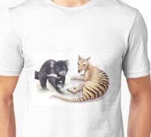 Tasmanian Devil & Tasmanian Tiger Unisex T-Shirt