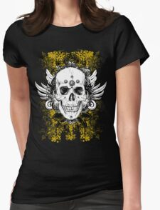 Skull Grunge Vector Womens Fitted T-Shirt