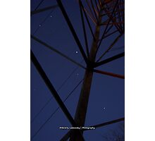 Pylon and the Night Sky Photographic Print