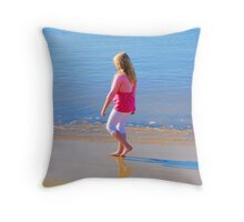 Lovely Day For the Beach Throw Pillow