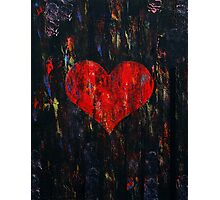 Red Heart Photographic Print