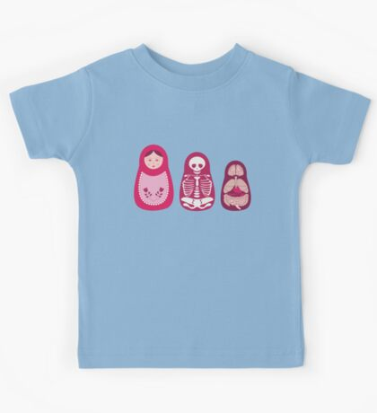 Inside out - Russian Matryoshka dolls Kids Tee