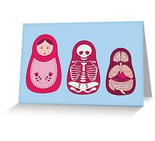 Inside out - Russian Matryoshka dolls Greeting Card