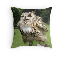 Owls Don't Need Table Manners! Throw Pillow