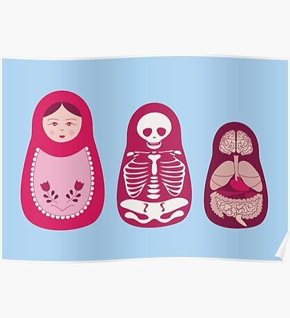 Inside out - Russian Matryoshka dolls Poster