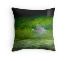 Fight of the Heron Throw Pillow