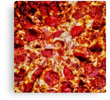 Pizza Painting Canvas Print