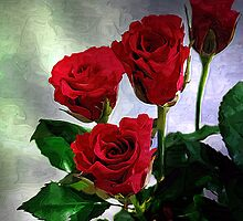 red roses by cynthiab