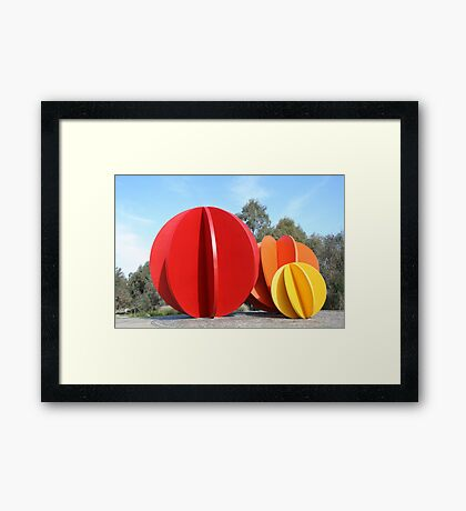 Coloured Balls Framed Print