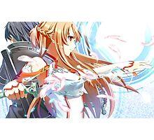 Kirito and Asuna Photographic Print