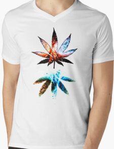 Galactic Ganja Mens V-Neck T-Shirt
