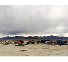 Desert car camping Photographic Print